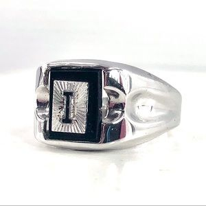 Vintage Sterling ESPO Initial * I * Signet Ring 10